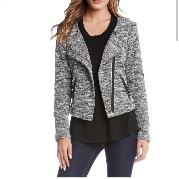 Karen Kane Jackets & Blazers - Knit Moto Jacket